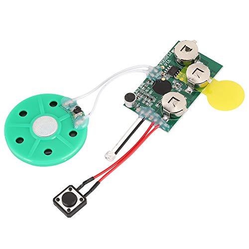 Tonysa DIY Grußkarten Chip, 60 Sekunde Recordable Voice Sound Modul, DIY Aufnehmbare Beschreibbare Sprachmodul für hausgemachte Grußkarten/Geschenkboxen/handgefertigte Produkte