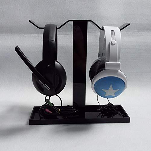 Camidy Kopfhörer Headset Ständer Kleiderbügel Schreibtisch Kopfhörerhalterung Rack Headset Kleiderbügel Schreibtisch Displayhalter für Doppelkopfhörer