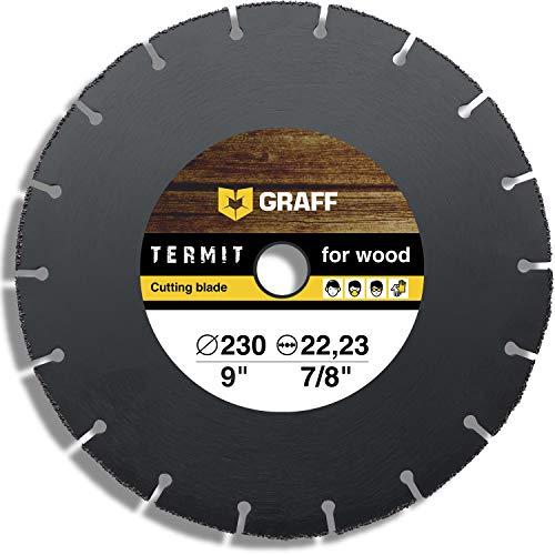Hartmetall Flexscheibe für Holz GRAFF Termit 230mm - Winkelschleifer Multi Wheel Trennscheibe (wood carving disc) zum Schneiden von Holz, Kunststoff und Plastik, Speedcutter (230 mm)