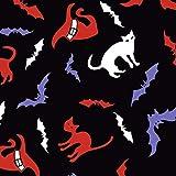 FS712 Katzen und Fledermäuse, Hexenhut, gesponnenes