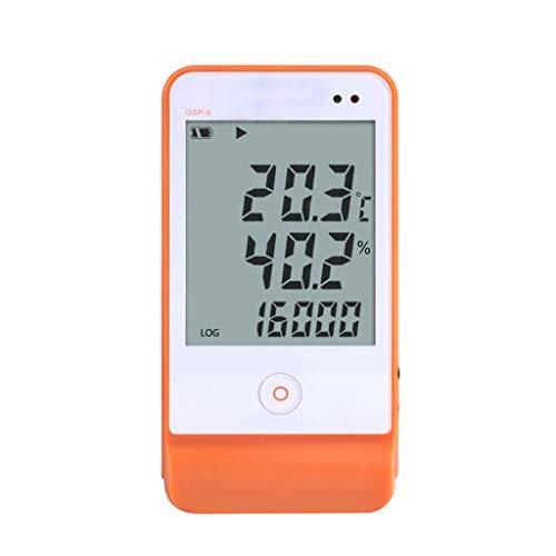 DAIMANPU USB GSP-6 Temperatuur en Vochtigheid Datalogger Hoge Precisie Sonde Smart Sound en Licht Alarm LCD Display Recorder voor Drogisterij