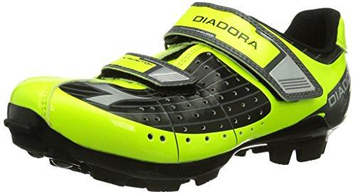 Diadora X PHANTOM JR, Unisex-Kinder Radsportschuhe - Mountainbike, Gelb (schwarz/gelb fluo/weiß...