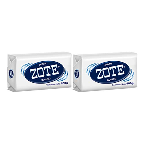 Zote Laundry Soap Bar, Stain Remover Laundry Detergent for Clothes, Catfish Bait, Super Washing Travel Jabon Para Lavar Ropa, White Underwear Clothes Washing Soap (400 grams), Pack of 2 -  Tia Guapa