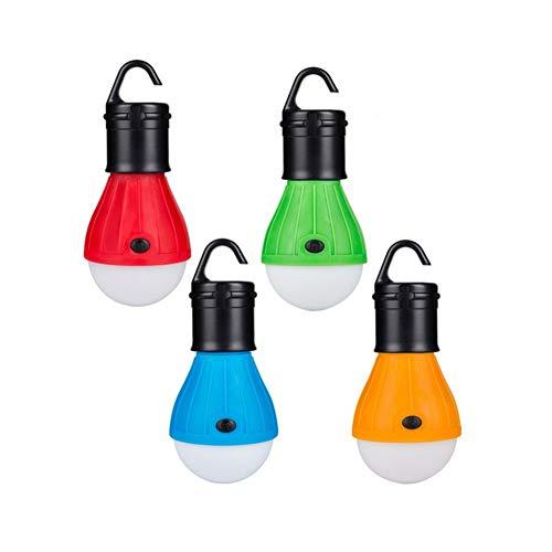 Lampada da tenda a LED portatile di emergenza per escursioni, pesca, impermeabile, 3 lanterne da campeggio con ganci a sospensione, 4 luci esterne a parete