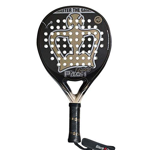 Pala de Pádel Piton Limited | Black Crown | Nivel: Avanzado, Competición, Profesional | Potencia 95%, Control 100%