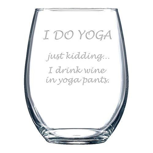 Best wine glasses funny yoga for 2020