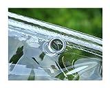 CXF Jardin imperméable à l'eau Claire Bâche Tarp avec Oeillets marquises et Bâches Heavy Duty Effacer Weatherproof Tarp, 0.3MM épaisseur (Size : 1.8x2m)