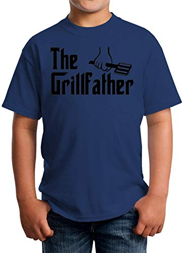 ShutUp It's The Grill Father T-shirt voor kinderen unisex 5-13 jaar wit - - X-Large