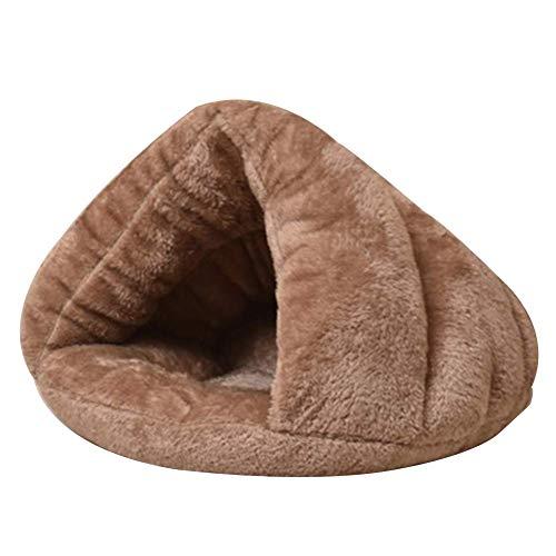 MLYWD Huisdierbed, wasbaar, hondenkussen, softpluche, wintercomfort, indoor kattenhuis voor honden en katten, hondenbed, kattenbed, slaapbed, ideaal voor kleine tot middelgrote honden, hondenbed, warm