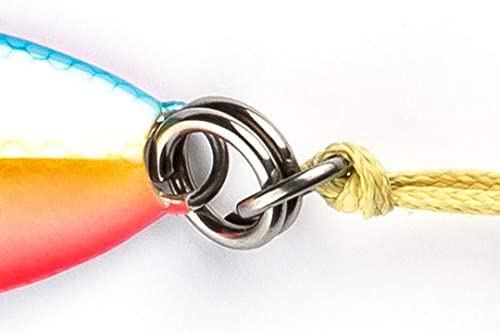 Optimal Coloring 9 Colors /& 5 Weights Military Grade Kevlar Assist Cord Unmatched Strength Flat Fall Jigs Slow Vertical Irons Fast Ocean Lures w// MUSTAD Hooks /& OWNER Rings USA Owned
