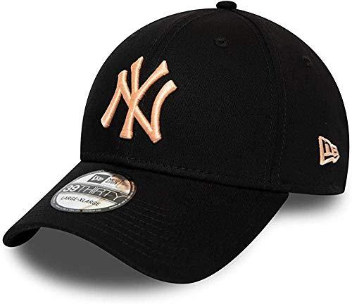 New Era - MLB New York Yankees Essential 39Thirty Stretch Cap - Schwarz Größe L-XL, Farbe Schwarz