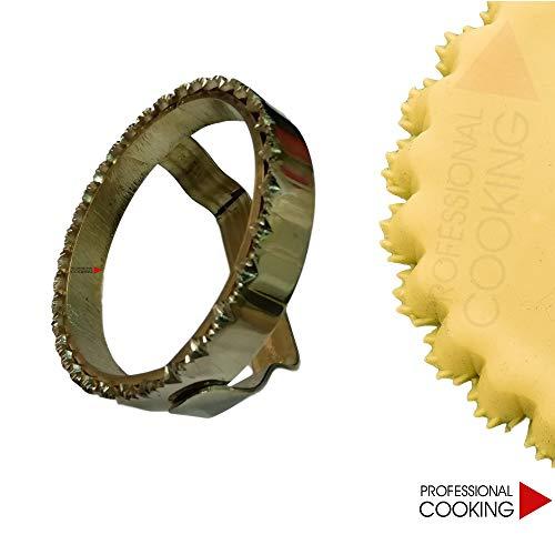 Professional Cooking Tagliapasta Forma Stampo seadas sardo in Ottone con Manico cm.11.5