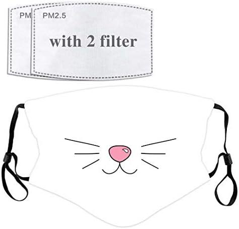 Cat Whisker Face Mask with Filter Pocket Washable Face Bandanas Balaclava Reusable Fabric Masks product image