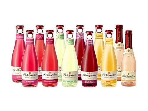 Rotkäppchen Fruchtsecco Himbeere 2 Fl., Holunderblüte 2 Fl., Mango 2 Fl., Granatapfel 2 Fl. und Rose Trocken 2 Fl. (12 x 0.2 l) 2 Flaschen Erdbeere