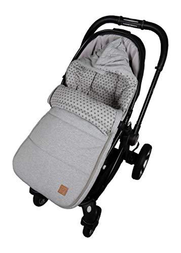 Kinderwagen Fußsack Jessy Jersey Star, light grey