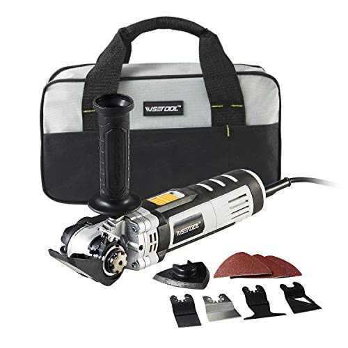 Read About WISETOOL 600W 5 Amp Oscillating Multi Tool Kit with 5.5° Oscillation Angle,6 Variable Sp...