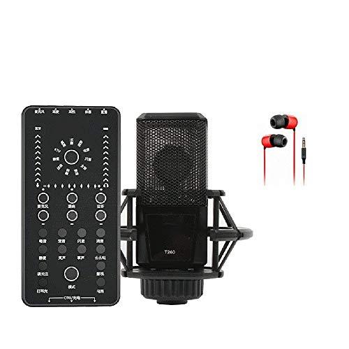 MMFXUE Externe Soundkarte, Soundkarte mit Mehreren lustigen Effekten, Dual-DSP-Rauschunterdrückung Chip, Live-Soundkarte für Mobiltelefone für die Übertragung von Karaoke-Game-Sounds live