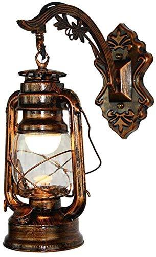 lámpara de pared Corredor de la lámpara lámpara de la lámpara de pared de la lámpara E27 lámpara retro caballo Balcón chino Nostálgico pasillo queroseno Wall Bar Industrial viento lámpara de pared ret