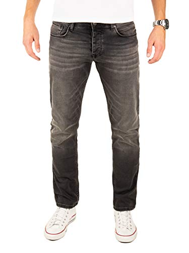 Yazubi Jeans Herren Edvin Slim - Jeans Hosen für Männer - Schwarze Denim Stretch Lange Hose Jeanshose Regular, Grau (Phantom 194205), W32/L34