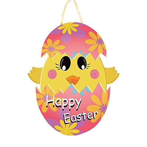 Acrylic Hanging Easter Tree Decoration - Laser Cut -Egg Rabbits Bunny Cute Craft Decorations,Easter Pendants Hanging Ornaments for Home Office School (B)
