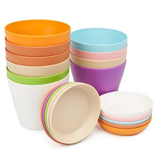 Set di 10 vasi per Piante in plastica, Colori Pastello Assortiti da 10 cm - Include vaschette di Raccolta/piattini Separati con Fori di drenaggio - Ideale per Piante da Interno e da Esterno