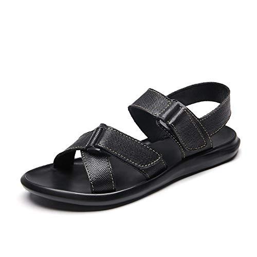 YLiansong-home Sandalias de Senderismo Aguas Arriba al Aire Libre Senderismo Anti Slip Sandalias de Atletismo Zapatos de los Hombres Sandalia al Aire Libre (Color : Black, Size : 40)