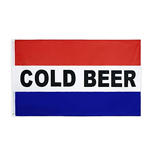FLAGLINK 3X5 Business Sign Cold Beer Flag