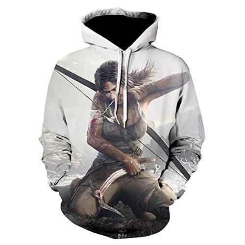 3D Assassin'S Creed Capucha Camisa de Entrenamiento Unisexo Manga Larga Camisas Top Transpirable Suéter-A_XL