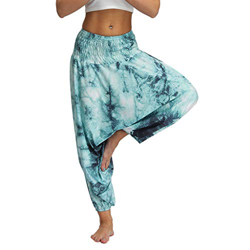 Allence Damen Hosen Damen hosen, hohe taille, weite boho haremhose, aladin hose, yoga hose einheitsgröße grã¼n5