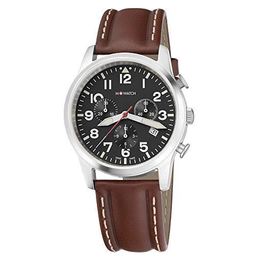 M WATCH Swiss Made Aero Orologio da uomo, Cronografo con datario, Lancette...