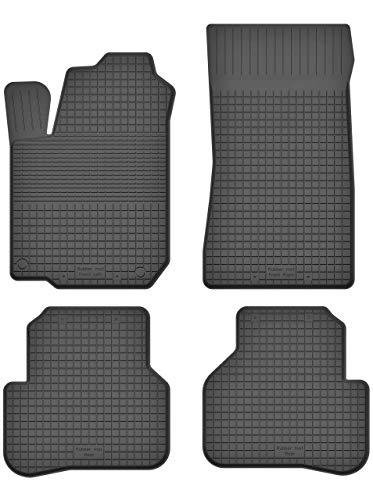 KO-RUBBERMAT Gummimatten Fußmatten 1.5 cm Rand geeignet zur Renault TWINGO II (Bj. 2007-2014) ideal angepasst 4 -Teile EIN Set