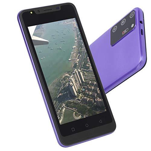 SONK Smartphone, teléfono de desbloqueo de Huellas Dactilares de Pantalla HD de 5.0 Pulgadas con cámara HD y reconocimiento Facial, teléfono de Doble Modo de Espera Barato(Púrpura)