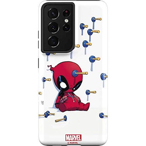 Skinit Pro Phone Case Compatible with Galaxy S21 Ultra 5G - Officially Licensed Marvel Baby Deadpool Design