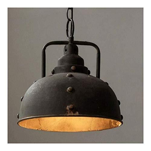 Kroonluchter Amerikaanse retro vintage smeedijzeren kroonluchter plafond pan cafe bar restaurant enkele hoofd verlichting lampindustrie windrostvrije deksel huishoudverlichting, stijlvol en