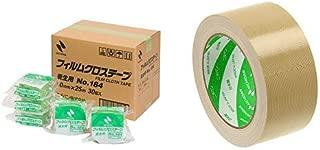 ニチバン 養生テープ フィルムクロステープ 30巻入 50mm×25m 184-50AZ30P 緑 &  布テープ 50mm×25m巻 121-50 黄土