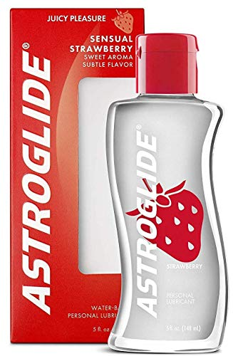 Astroglide Strawberry Liquid, Water Based Personal Lubricant, 5 oz.