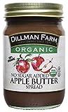 Dillman Farm Organic No Sugar Added Apple Butter, 13oz (Pack of 6)