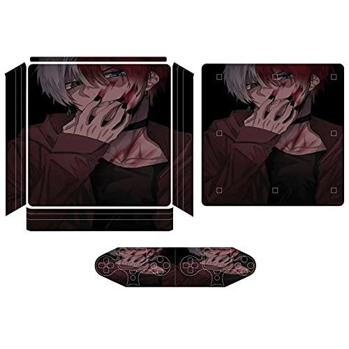 Tokyo Ghoul Lovely Cartoon PS4 Slim Ganzkörper Vinyl Aufkleber Anime Gaming Skin für Playstation 4 Systemkonsole und Controller