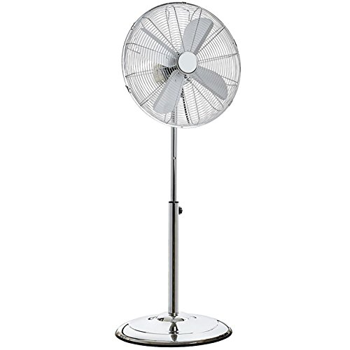 """Oypla Electrical 16"""" Inch 40cm Chrome Metal Pedestal 3 Speed Stand Fan Cooling"""