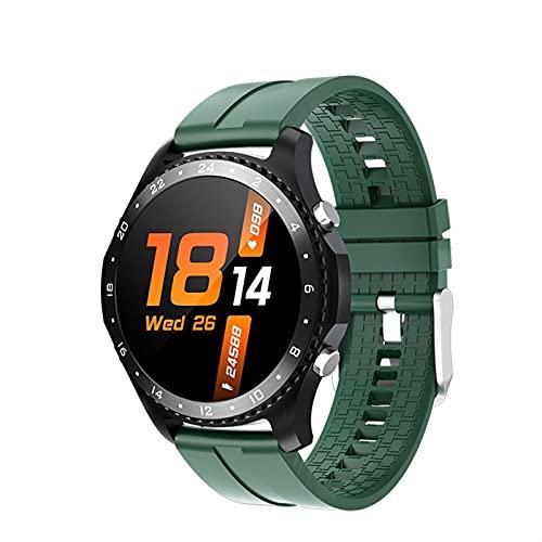 YQCH Reloj inteligente a prueba de agua con Bluetooth Dail ritmo cardíaco Oxígeno en sangre Temperatura corporal Monitores de actividad con podómetro SmartWatch para Android iOS Replicación