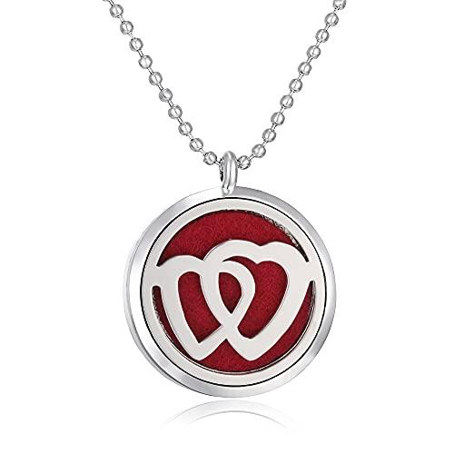 MIKUAM collarDifusor de aromaterapia, Collar, joyería, Perfume, Aroma, Collar, difusor, Colgante, Collar difusor de Aceite Esencial para Mujer, joyería