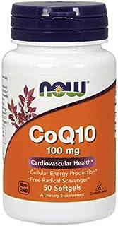 Now Foods CoQ10 Vitamin, 100 mg 50 Softgels