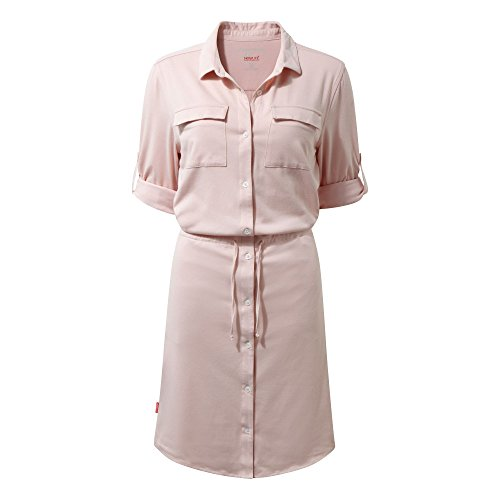 Craghoppers WOMENS NOSILIFE DAKU DRESS BLOSSOM PINK (UK8)