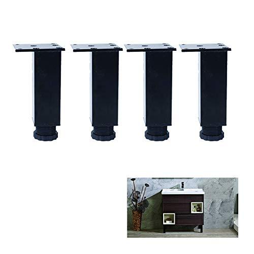 4 Sets Van De Sofa Voeten Met Aluminiumlegering Meubilair Hardware 3-40Cm Round Ondersteunende Voeten Zijn Sofa Salontafel Kast Voeten, Zwart,25cm