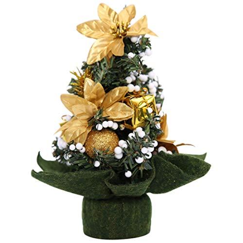 Casinlog Árbol de Navidad Decorativo Árbol de Navidad Festival Decorativos Exquisito Árbol Pequeño Decorativo