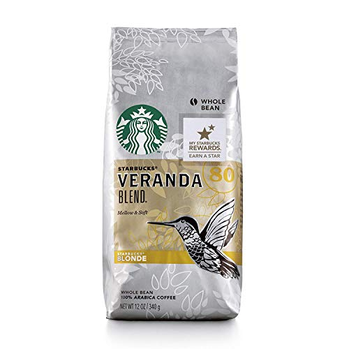 Starbucks Veranda Blend Light Blonde Roast Whole Bean Coffee, 12 Ounce (Pack of 6)