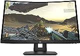 HP X24c 9FM22AS – Moniteur de Jeu incurvé de 23,6' FHD (16:9, 1920 x 1080 Pixels, 144 Hz, 4 ms, 1 x HDMI 2.0, 1 x DisplayPort 1.2) Noir