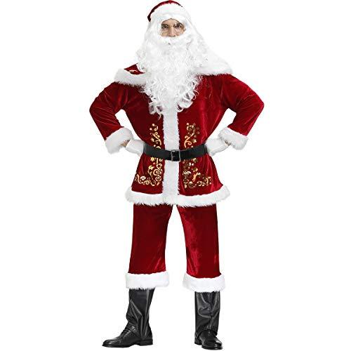 Feynman Weihnachtsmann Kostüm Santa Claus Kostüm Nicolaus Costume Weihnachten Anzug Uniform, XXXXL