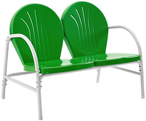 Crosley Furniture Griffith Metal Outdoor Loveseat - Grasshopper Green