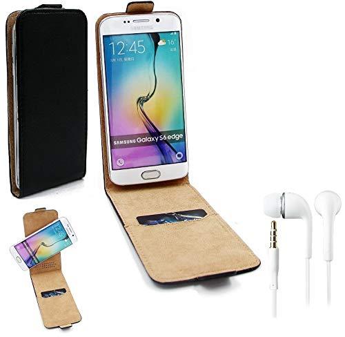 K-S-Trade Handy-Hülle + Kopfhörer Kompatibel Mit Blaupunkt SL 04 360° Flipstyle Schutz-Hülle Smartphone Tasche Hülle Flip Cover Schwarz 1x